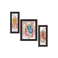 Wens 'Ganesha Indian Deity' Wall Art (MDF, 30 cm x 34 cm x 1.5 cm, WSP-4306)