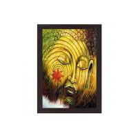 Wens 'Love for Buddha' Wall Painting (MDF, 35.5 cm x 50.8 cm x 1.2 cm)