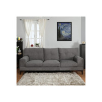 Now Living Eastwood Fabric 3 Seater Sofa(Finish Color - Grey)