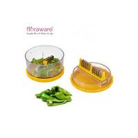 Floraware Garlic Onion Cutter Crusher Peeler (Yellow)