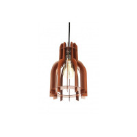 Sehaz Artworks DIY Conical Manufactured Wooden Ceiling Pendant Lamp Shade (30 cm x 30 cm x 4 cm, Brown)