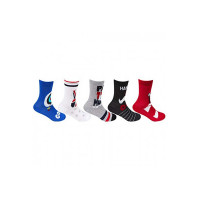 Bonjour Boy's Cotton Calf Socks (Pack of 5) (BRO7301_Multicolored_3-5 yrs)