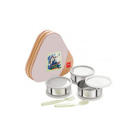 Cello Eat-N-Eat 3 Container Lunch Packs, Cream Buff