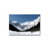 Pintura Canvas Painting with UV Print of Snow Covered Mountains Painting with Wooden Frame # Art Print # Best for Gifting Dimensions 18 Inch X 12 Inch