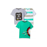 Cloth Theory Boy's Classic Fit T-Shirt (Pack of 3) upto 80% Off