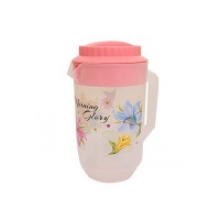 Kuber Industries Floral Design Plastic Water Jug, Pink