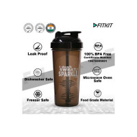 Fitkit Classic Bottle 700 ml Shaker(Pack of 1, Brown, Plastic)
