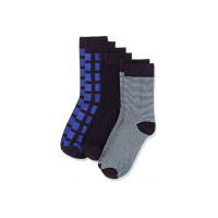Amazon Brand - Symbol Men's Calf Socks (Pack of 3)