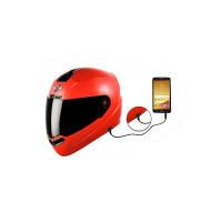 Steelbird SBA-1 7Wings HF Dashing Full Face Helmet with Smoke Visor and Detachable Handsfree Device (Medium 580 MM Slim Fit, Red)