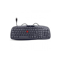 iBall Winner Soft Keys Water Resistant Wired Keyboard (Black)