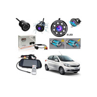 OSHOTTO 7 inch Full HD LED Monitor (USB & Bluetooth) Car Video Monitor, Care Rear View Screen Car Screen Car Monitor with 8 LED Reverse Camera Compatible with Tata Tiago