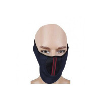 AllExtreme EXUHFMB Universal Flexible Half Face Bike Riding Mask with Closure and Breathing Holes for Men and Women (Random Colors)