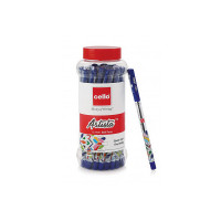 Cello Artista Ball Pens (25 Pens Jar - Blue Ink) | Ballpen set with different exciting body colours|Ideal for School Projects