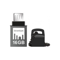 Strontium OTG USB 3.1 150MB/s 16 GB Pen Drive(Black)