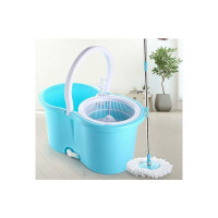 Ganesh Quick Spin Mop with Steel Handle, Blue