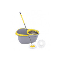 Frestol - DTMPS0101GY Steel Mop +2 Refill+Rod - Grey/Yellow