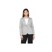 STOP by Shoppers Womens Notched Lapel Printed Blazer