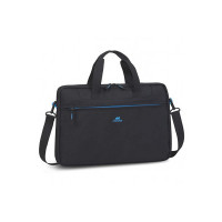 "RivaCase Regent 8037 Black Laptop Bag 15.6"" Inches"