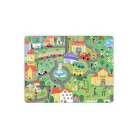 Webby City Life Wooden Jigsaw Puzzle Toy, 20 Pcs