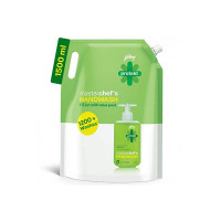 Godrej Protekt Germ Fighter Handwash Refill, Lime - 1.5 L, 99.9% Germ Protection, With Glycerin