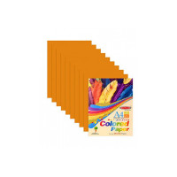 Bambalio BSC-100 Colour Paper- Pack of 200 Sheets Smooth Finish 75 gsm/ A4 Size Orange Color Paper  [Apply 35% coupon]
