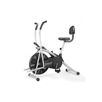 Cockatoo AB06WBC Stainless Steel Exercise Bike with Moving Handle, Back Support and Adjustable Cushioned Seat,(DIY Do It Yourself Installation,1 Year Warranty) [10% Instant Discount  on IndusInd/Axis/Citi Bank Cards]