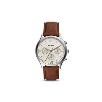 """Fossil Fenmore Analogue Men's Watch (Off-White Dial Brown Colored Strap)"""""""