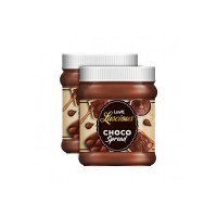 LuvIt Luscious Choco Spread | Smooth & Delicious | Made with Cocoa | Best for Chocolate Bread, Cakes | Pack of 2 - 290g Each