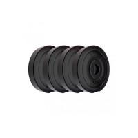Koxtons Amazon Brand - Koxtons 20 Kg (5 Kgx4) Free Weights Combo, PVC, Black