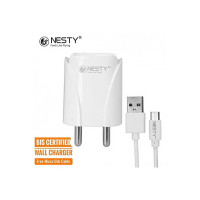 Nesty GRTA-006 2.4 Amp Dual Port USB Charger with V8 Data Cable (White) (Coupon)