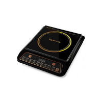 Lifelong LLIC40 Regalia Induction Cooktop with 7 preset Indian Menu, Display and Push Button for Easy and Fast Cooking Deep Fry, Stir or Boil (Black,1800 W)
